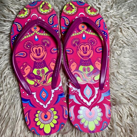Disney Shoes - Disney  flip flops color pink size 7